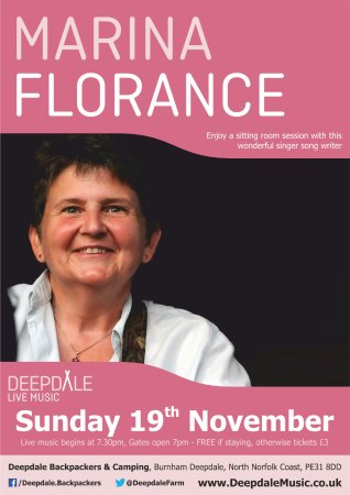 Burnham Deepdale, UK : Marina Florance - Sunday Session - Sunday 19th November - Part of www.deepdalemusic.co.uk