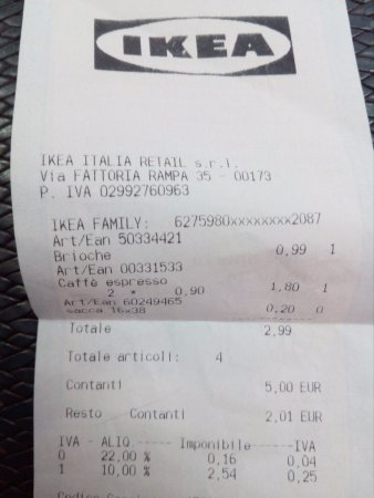 Scontrino Foto Di Ikea Roma Anagnina Roma Tripadvisor