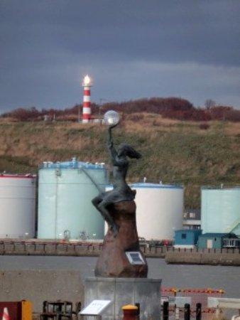 Rumoi, Japón: 波灯の女と一緒に