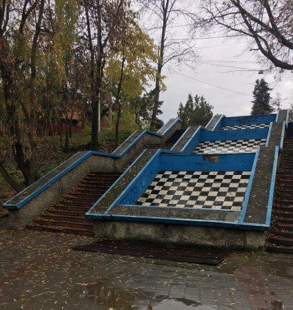 Salgirka City Park: Раньше стекала вода, наверное.