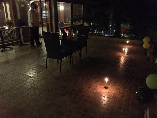 Club Mahindra Thekkady: Candle light dinner decor