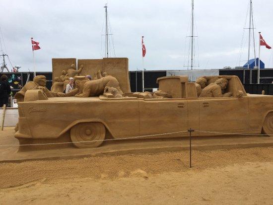 Sandskulpturer i Hundested