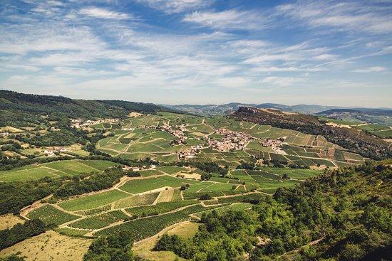 Solutre-Pouilly, France: vue du haut de la roche