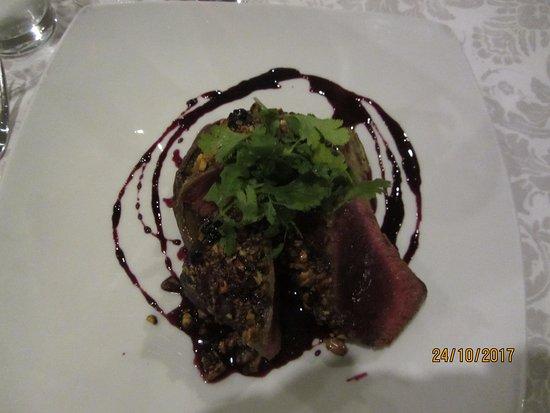 Fordoun Spa Hotel Restaurant: Perfect kudu fillet