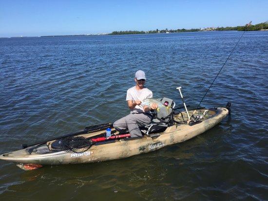 Sarasota bay fishing picture of casting kayaks sarasota for Sarasota florida fishing