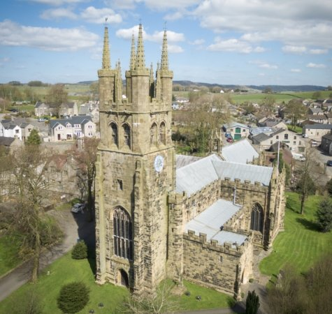 Tideswell, UK: Tower of St John