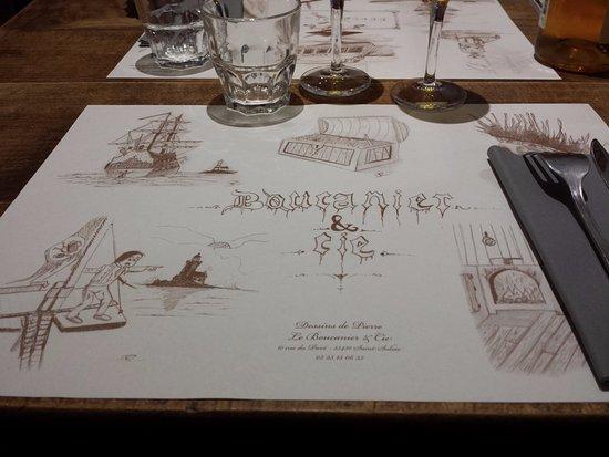 La Ferme Du Boucanier Set De Table Avec Des Dessins Marins Carte Visite