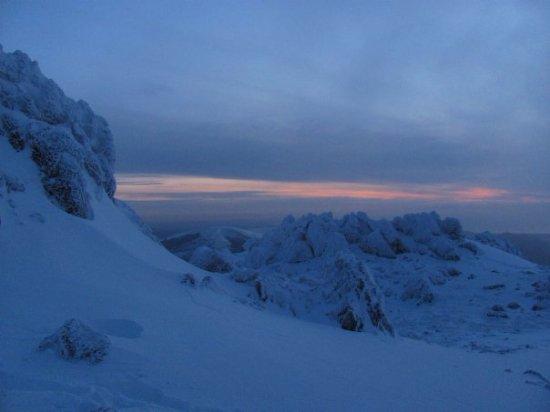 Dolgellau, UK: Sunset at Cadair Idris new years eve