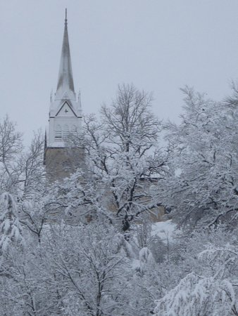 Lanesboro, MN: From our reading nook in the Brooklyn Suite, check out this view in the winter