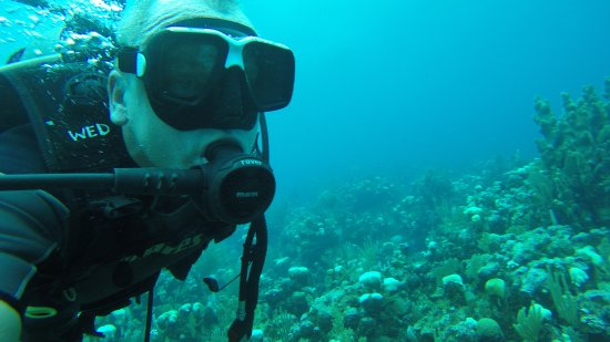 West End, Honduras: Over the reef