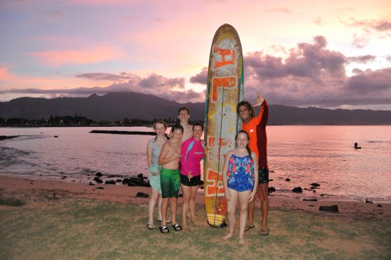 Blue Rush Surf School: surfing into the sunset!