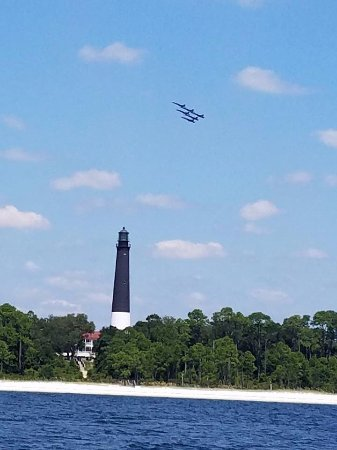 Gulf Breeze, Φλόριντα: Pensacola Lighthouse with out US Navy Blue Angels