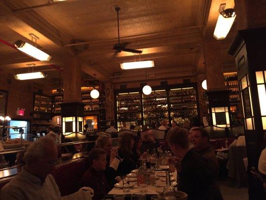 Balthazar: The interior of the restaurant looking towards bar