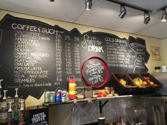 Sun Peaks, Canada: menu board
