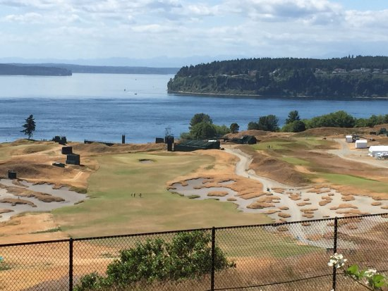 University Place, Ουάσιγκτον: Chambers Bay golf course as seen during the Jun 18–21, 2015 US Open golf tournament