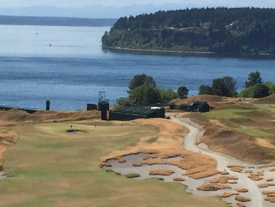 University Place, WA: Chambers Bay golf course as seen during the Jun 18–21, 2015 US Open golf tournament