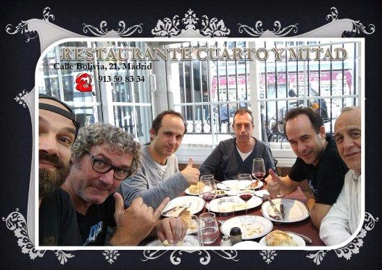 Los comensales: fotografía de Cuarto y Mitad, Madrid - TripAdvisor