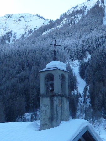 Peisey, France: village church