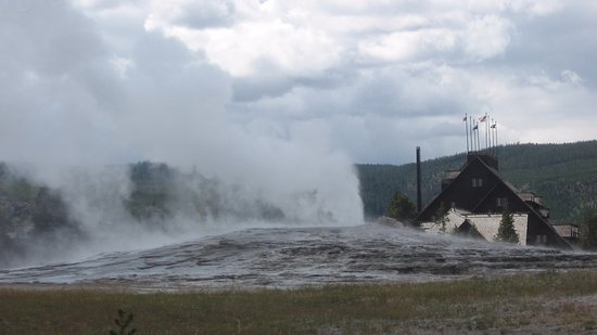Photo of Old Faithful in Yellowstone National Park, WY, US