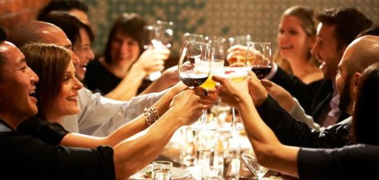 Zuidlaren, Nederland: Gezellig eten en drinken met familie en vrienden