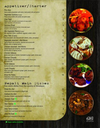 Appetizer - Picture of DaiKo Indian Kitchen & Nepali Street