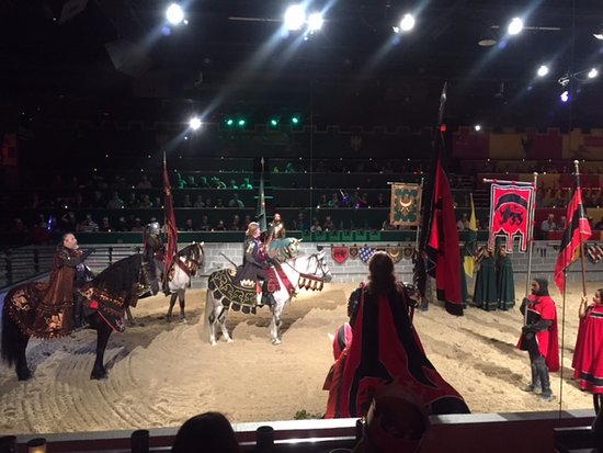 Medieval Times Dinner & Tournament: Announcing the Knights for each section