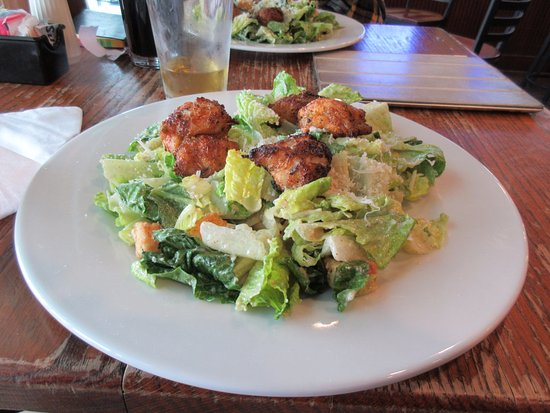 Chestertown, MD: Blackened Monk Fish on a Caesar Salad (bigger than it looks!)