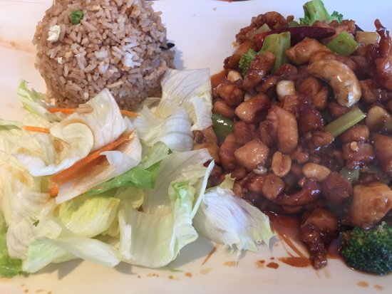 Newbury Park, CA: Kung Pao Chicken with Fried Rice.