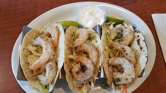 College Park, MD: Shrimp tacos