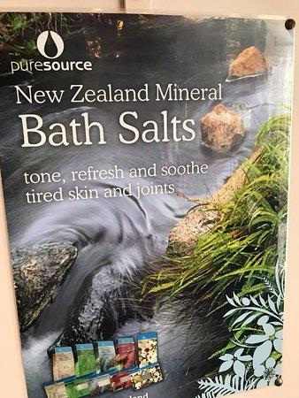 Taranaki Thermal Spa: Selection of bath salts