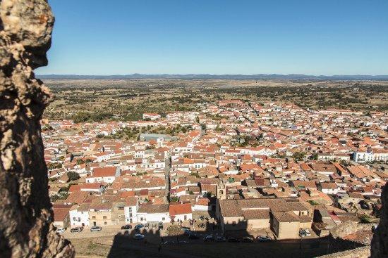 Vista de Alburquerque desde la torre pentagonal