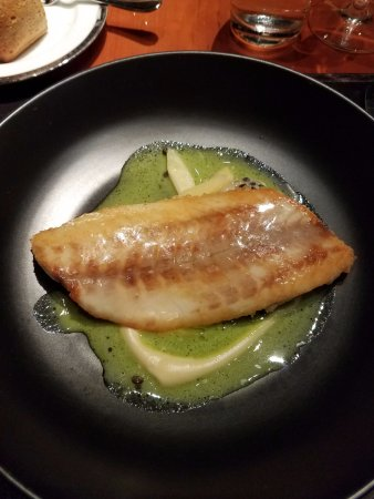 Gramercy Tavern: Sea Bass, Lentils, Parsnip and Leeks
