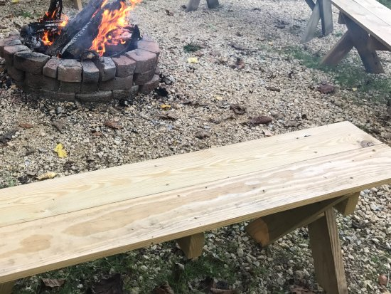 Potosi, WI: Fire pit with benches