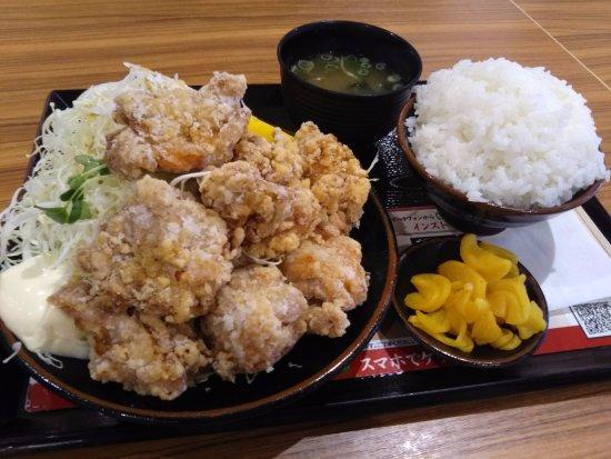 Moriguchi, Japón: から揚げ定食(ご飯大盛り)
