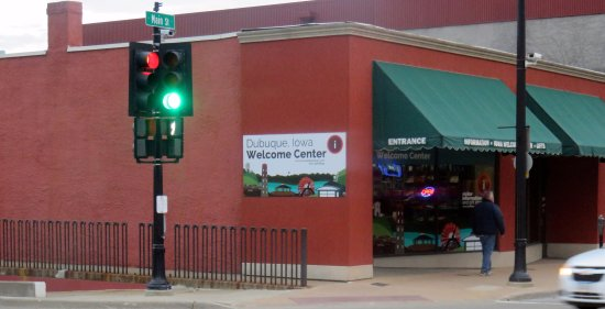 front of the Dubuque, Iowa Welcome Center