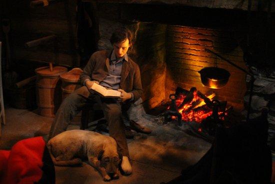 Abraham Lincoln Presidential Library und Museum: Linclon's Cabin Diorama
