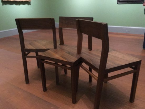 Worcester Art Museum: Even the gallery chairs are remarkable works of art!
