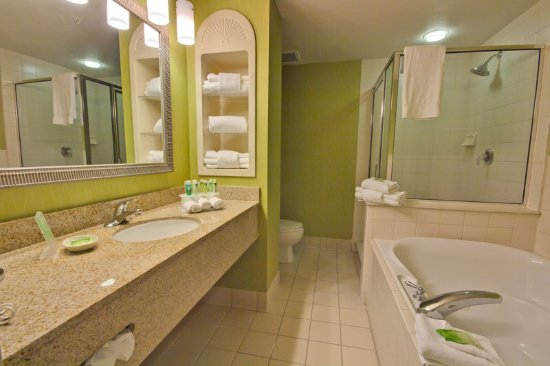 Holiday Inn Express Hotel & Suites New Tampa I-75 Bruce B. Downs: Executive Suite Bathroom with Jacuzzi Tub