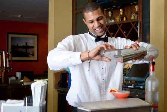 Watertown, NY: Staff Member Preparing Drinks