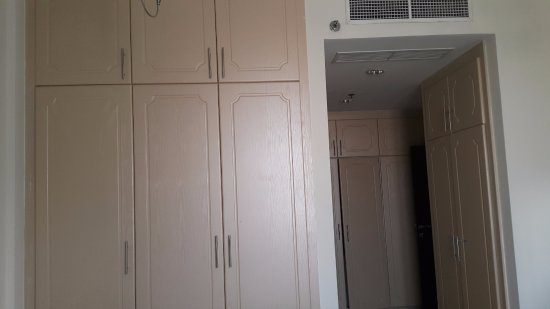Fortune Classic Hotel Apartments : Large cupboards  in master bedroom