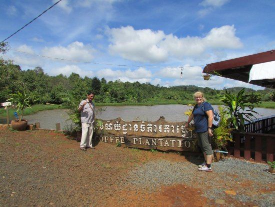 Vebol Tuk Tuk: Vebol and I at the Coffee Plantation in Mondulkiri