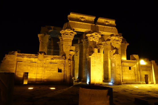 Temple of Kom Ombo: Night view of Kom Ombo Temple
