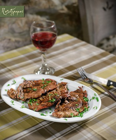 Pezodromos: Pork chops with sweet and sour sauce