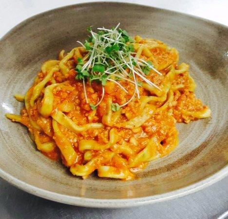 homemade pasta in Ragu' sauce - Picture