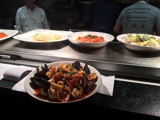 Vienna, VA: Italian Seafood Soup (on the line)