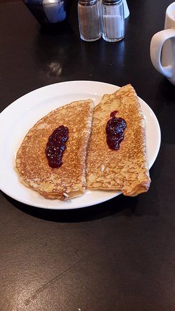 Spar Hotel Majorna: Swedish Pancakes from the breakfast buffet