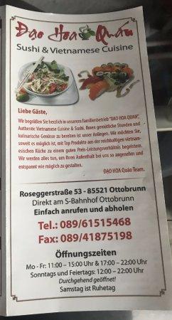 Ottobrunn, Alemanha: Speisekarte