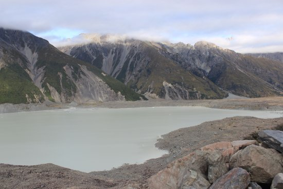 Mt. Cook Village, New Zealand: From the top