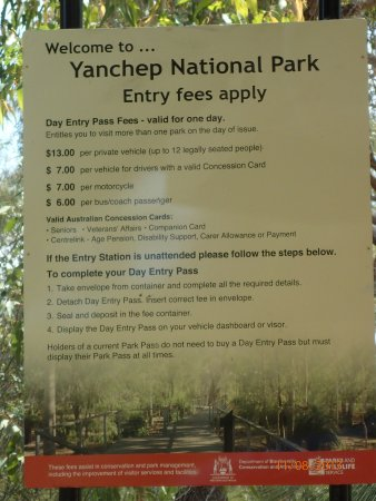 Yanchep, Australia: data board
