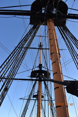 Hartlepool, UK: Masts with fighting platforms